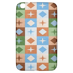 Fabric Textile Textures Cubes Samsung Galaxy Tab 3 (8 ) T3100 Hardshell Case