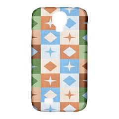 Fabric Textile Textures Cubes Samsung Galaxy S4 Classic Hardshell Case (pc+silicone)