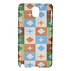 Fabric Textile Textures Cubes Samsung Galaxy Note 3 N9005 Hardshell Case