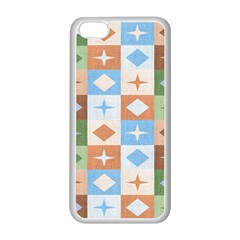 Fabric Textile Textures Cubes Apple Iphone 5c Seamless Case (white)