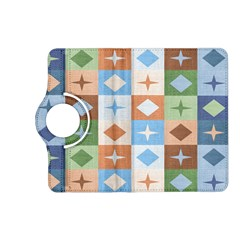 Fabric Textile Textures Cubes Kindle Fire Hd (2013) Flip 360 Case