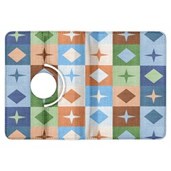 Fabric Textile Textures Cubes Kindle Fire Hdx Flip 360 Case