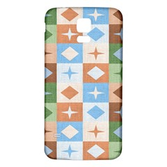 Fabric Textile Textures Cubes Samsung Galaxy S5 Back Case (white)