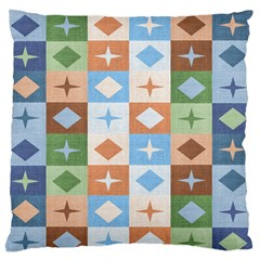 Fabric Textile Textures Cubes Large Flano Cushion Case (one Side)