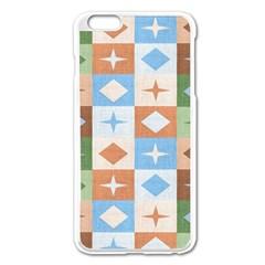 Fabric Textile Textures Cubes Apple Iphone 6 Plus/6s Plus Enamel White Case