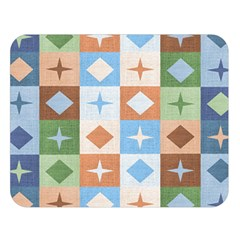Fabric Textile Textures Cubes Double Sided Flano Blanket (large)