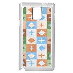Fabric Textile Textures Cubes Samsung Galaxy Note 4 Case (white)