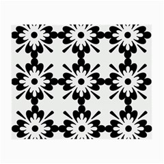 Floral Illustration Black And White Small Glasses Cloth