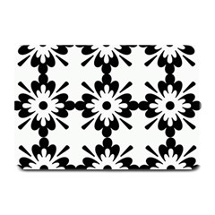 Floral Illustration Black And White Plate Mats