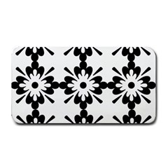 Floral Illustration Black And White Medium Bar Mats