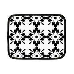Floral Illustration Black And White Netbook Case (small)