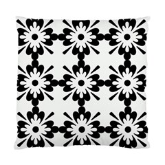 Floral Illustration Black And White Standard Cushion Case (Two Sides)
