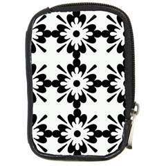 Floral Illustration Black And White Compact Camera Cases