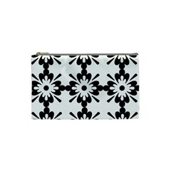 Floral Illustration Black And White Cosmetic Bag (small)