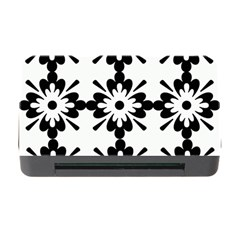 Floral Illustration Black And White Memory Card Reader With Cf