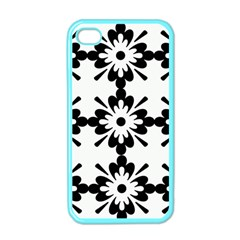 Floral Illustration Black And White Apple Iphone 4 Case (color)