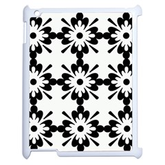 Floral Illustration Black And White Apple Ipad 2 Case (white)