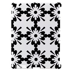 Floral Illustration Black And White Apple Ipad 3/4 Hardshell Case (compatible With Smart Cover)