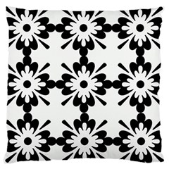 Floral Illustration Black And White Large Cushion Case (two Sides)