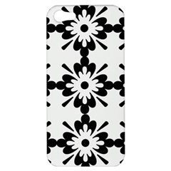 Floral Illustration Black And White Apple Iphone 5 Hardshell Case