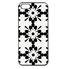 Floral Illustration Black And White Apple Iphone 5 Seamless Case (black)