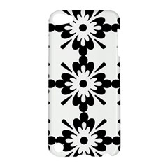 Floral Illustration Black And White Apple Ipod Touch 5 Hardshell Case