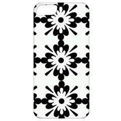 Floral Illustration Black And White Apple Iphone 5 Classic Hardshell Case