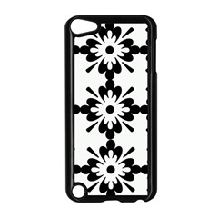 Floral Illustration Black And White Apple Ipod Touch 5 Case (black)