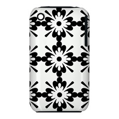 Floral Illustration Black And White Iphone 3s/3gs