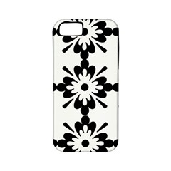 Floral Illustration Black And White Apple Iphone 5 Classic Hardshell Case (pc+silicone)