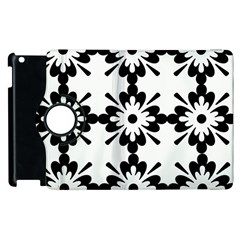 Floral Illustration Black And White Apple Ipad 2 Flip 360 Case