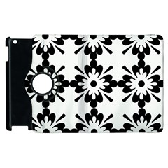 Floral Illustration Black And White Apple Ipad 3/4 Flip 360 Case
