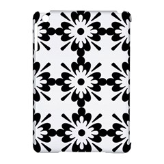 Floral Illustration Black And White Apple Ipad Mini Hardshell Case (compatible With Smart Cover)