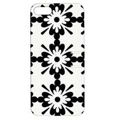Floral Illustration Black And White Apple Iphone 5 Hardshell Case With Stand