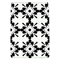 Floral Illustration Black And White Flap Covers (l)