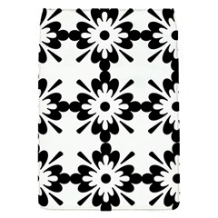 Floral Illustration Black And White Flap Covers (s)