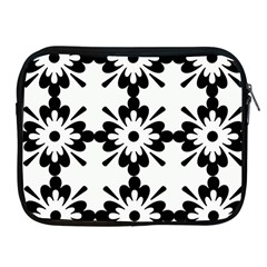 Floral Illustration Black And White Apple Ipad 2/3/4 Zipper Cases
