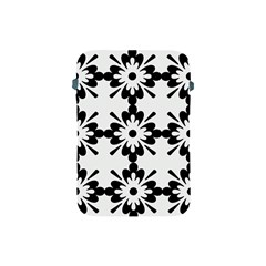 Floral Illustration Black And White Apple Ipad Mini Protective Soft Cases