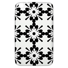 Floral Illustration Black And White Samsung Galaxy Tab 3 (8 ) T3100 Hardshell Case