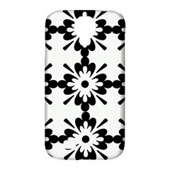 Floral Illustration Black And White Samsung Galaxy S4 Classic Hardshell Case (pc+silicone)