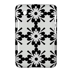 Floral Illustration Black And White Samsung Galaxy Tab 2 (7 ) P3100 Hardshell Case