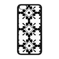 Floral Illustration Black And White Apple Iphone 5c Seamless Case (black)