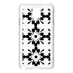 Floral Illustration Black And White Samsung Galaxy Note 3 N9005 Case (white)