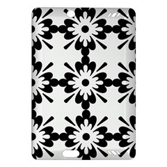 Floral Illustration Black And White Amazon Kindle Fire Hd (2013) Hardshell Case
