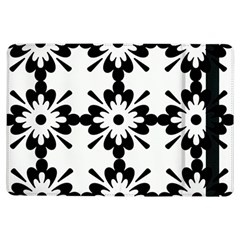 Floral Illustration Black And White Ipad Air Flip