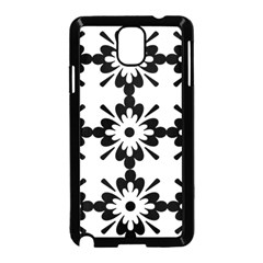 Floral Illustration Black And White Samsung Galaxy Note 3 Neo Hardshell Case (black)