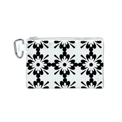 Floral Illustration Black And White Canvas Cosmetic Bag (s)