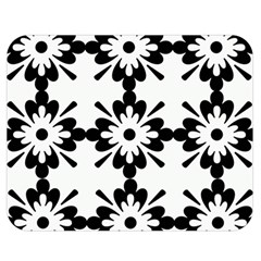 Floral Illustration Black And White Double Sided Flano Blanket (medium)