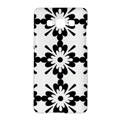 Floral Illustration Black And White Samsung Galaxy A5 Hardshell Case