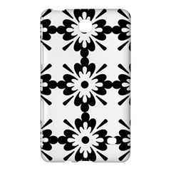 Floral Illustration Black And White Samsung Galaxy Tab 4 (7 ) Hardshell Case